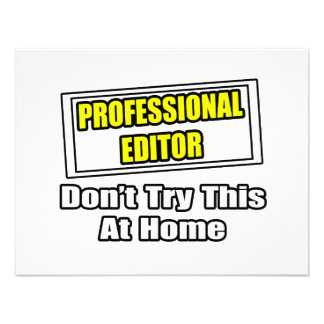 Professional Editor...Don't Try This At Home Invitation