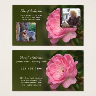 Professional Elderly Care Business Card