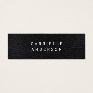 Professional Elegant Black Leather Mini Business Card