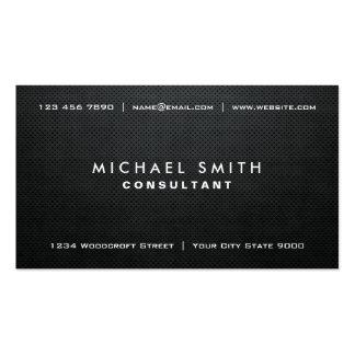 Professional Elegant Black Modern Plain Simple Pack Of Standard Business Cards