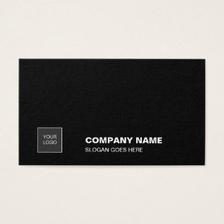 Professional Elegant Black Simple Plain Corporate Business Card