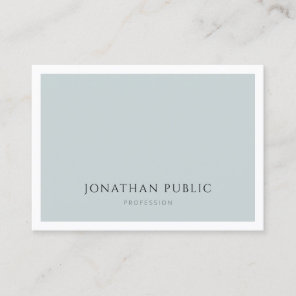 Professional Elegant Blue Green Simple Template Business Card