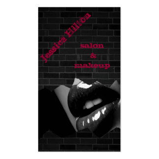 Professional elegant chic charming lips brick wall business card