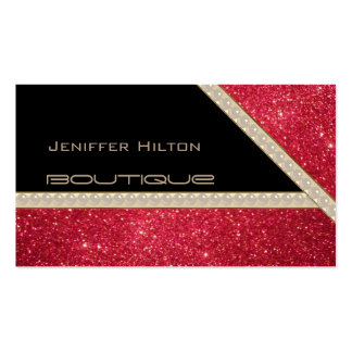 Professional elegant chic glittery look pearls pack of standard business cards