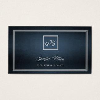 Professional elegant chic minimalism monogram business card