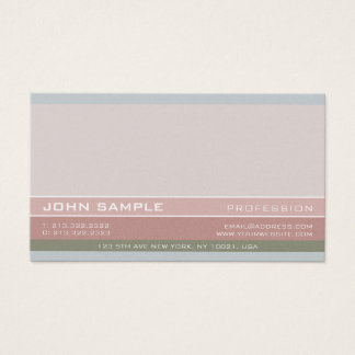 Professional Elegant Color Combination Pearl Business Card