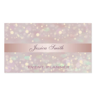 Professional elegant contemporary glitter bokeh pack of standard business cards