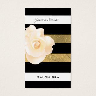 Professional elegant faux gold black stripes rose