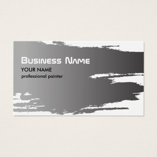 Professional Elegant Faux Silver Painter Business Card