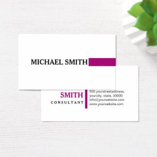 Professional Elegant Flirt Modern Plain White Business Card