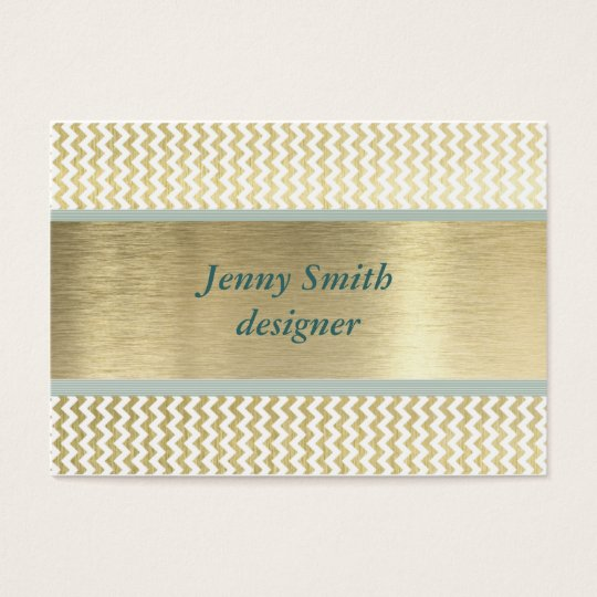 Professional elegant glamourous chevron gold business card