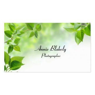 Professional Elegant Leaves Photo Business Card Business Card Template