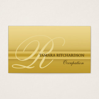 Professional elegant luxury business card Gold