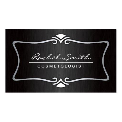 Professional Elegant Makeup Artist Cosmetologist Business Cards