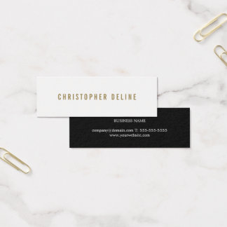 Professional Elegant Minimalist Stylish Consultant Mini Business Card