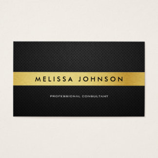 Professional Elegant Modern Black and Gold Business Card