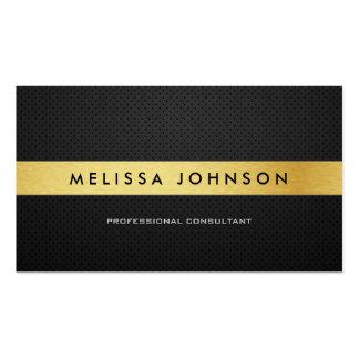 Professional Elegant Modern Black and Gold Pack Of Standard Business Cards