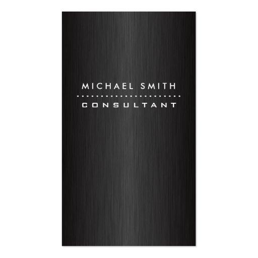 Professional Elegant Modern Black  Brushed Metal Business Card Templates