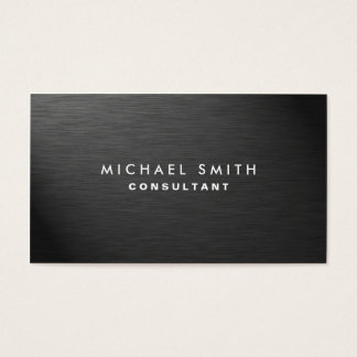 Metal business cards business card printing zazzle uk professional elegant modern black plain metal business card reheart Image collections