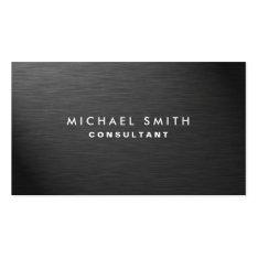 Professional Elegant Modern Black Plain Metal Pack Of Standard Business Cards at Zazzle
