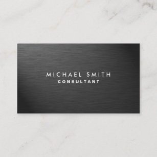 Metal business cards zazzle uk professional elegant modern black plain metal business card reheart Image collections