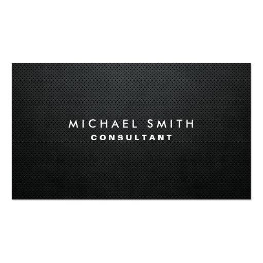 Professional Elegant Modern Black Plain Simple Business Cards