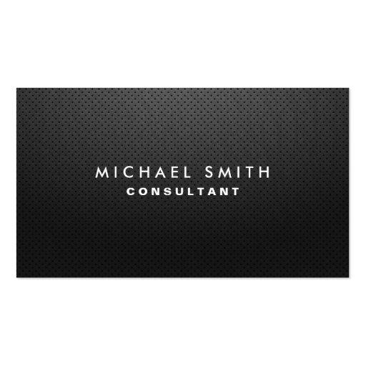 Professional Elegant Modern Black Plain Simple Business Card Templates