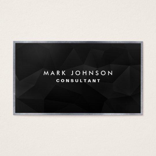 Professional Elegant Modern Black Polygon Cards