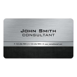 Professional Elegant Modern Black Silver Metal Pack Of Standard Business Cards