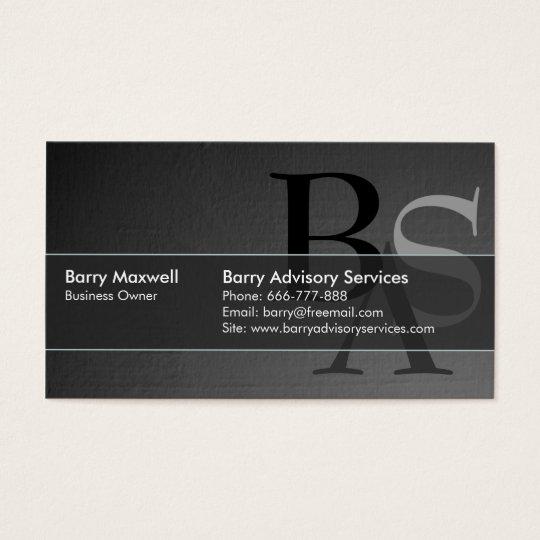 Professional Elegant Modern Black Simple Business Card