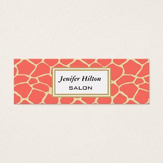 Professional elegant modern classy giraffe mini business card