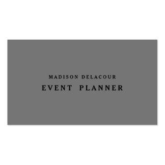 Professional Elegant Modern Grey & Black Pack Of Standard Business Cards