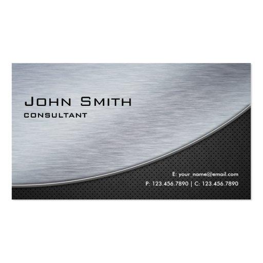 Professional Elegant Modern Metal Silver Computer Business Card
