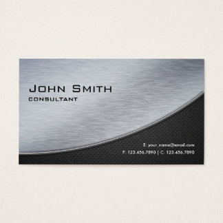 Professional Elegant Modern Metal Silver Computer Business Card