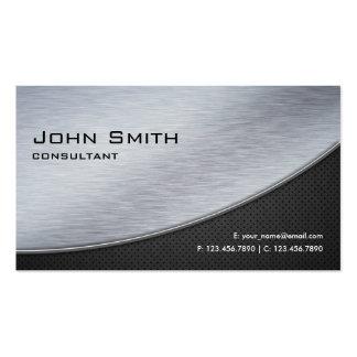 Professional Elegant Modern Metal Silver Computer Pack Of Standard Business Cards
