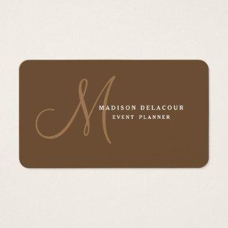Professional Elegant Modern Monogram Business Card