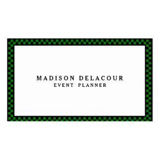 Professional Elegant Modern Monogram Green Border Pack Of Standard Business Cards