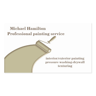 Professional elegant modern painting service pack of standard business cards