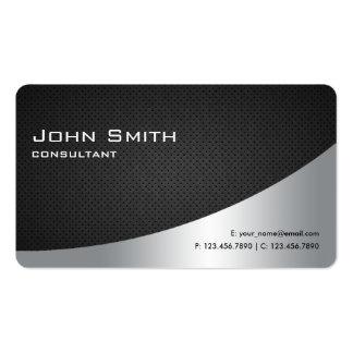 Professional Elegant Modern Plain Black Silver Pack Of Standard Business Cards