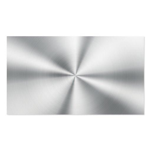 Professional Elegant Modern Plain Silver Metal Business Cards