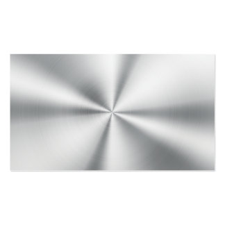 Professional Elegant Modern Plain Silver Metal Pack Of Standard Business Cards
