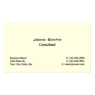 Professional Elegant Modern Plain Simple Cream Business Card Templates