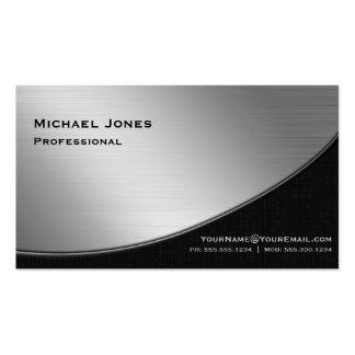 Professional Elegant Modern Silver Black Pack Of Standard Business Cards