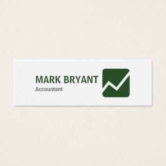 Professional Elegant Modern White Simple Mini Business Card
