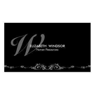 Professional Elegant Monogram Black Business Card