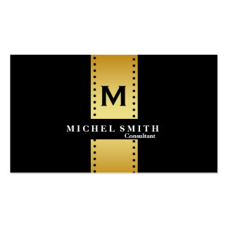 Professional Elegant Monogram Cosmetologist Gold Pack Of Standard Business Cards
