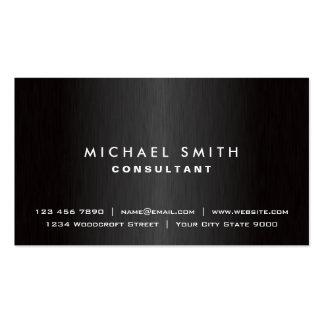 Professional Elegant Plain Black Modern Simple Pack Of Standard Business Cards