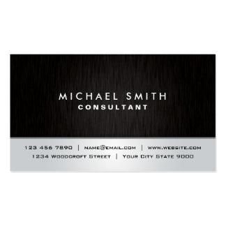 Professional Elegant Plain Black Silver Modern Pack Of Standard Business Cards