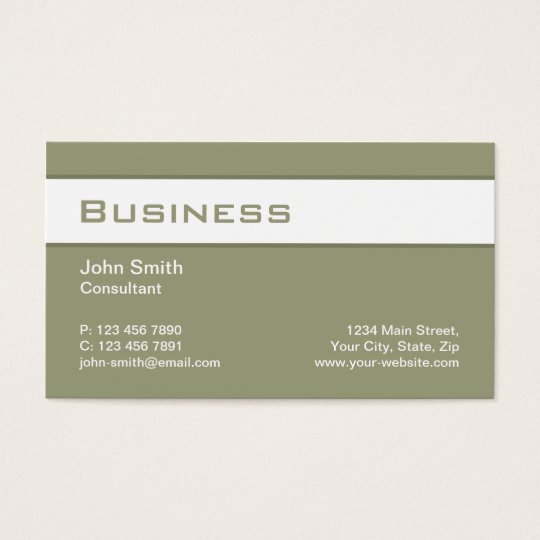 Professional Elegant Plain Green Modern Simple Business Card