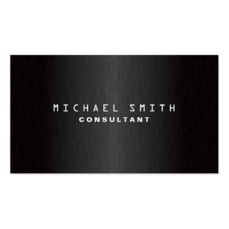 Professional Elegant Plain Modern Black Simple Pack Of Standard Business Cards